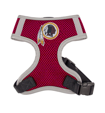 Washington REDSKINS  NFL dog Reflective Harness in Color Burgundy - Daisey's Doggie Chic - 1