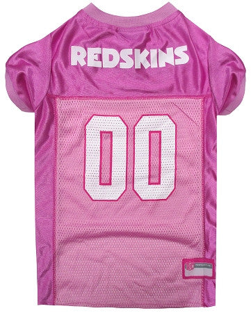 Washington REDSKINS  NFL dog Jersey in color Pink - Daisey's Doggie Chic - 1