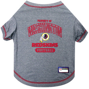 Washington REDSKINS NFL dog T-Shirt in color Gray - Daisey's Doggie Chic - 1