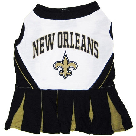 New Orleans SAINTS  NFL dog Cheerleader Dress - Daisey's Doggie Chic - 1