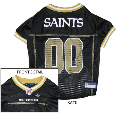 New Orleans SAINTS NFL dog Jersey in color Black - Daisey's Doggie Chic - 1