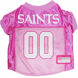 New Orleans SAINTS  NFL dog Jersey in color Pink - Daisey's Doggie Chic - 1