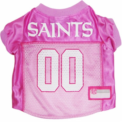 New Orleans SAINTS  NFL dog Jersey in color Pink - Daisey's Doggie Chic