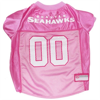Seattle SEAHAWKS NFL  dog Jersey in color Pink - Daisey's Doggie Chic - 1