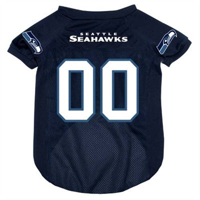 Seattle SEAHAWKS NFL dog T-Shirt in color Blue - Daisey's Doggie Chic - 1