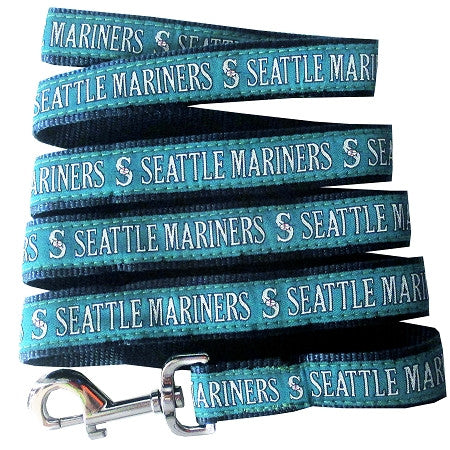 Seattle MARINERS  MLB Nylon Leash - Daisey's Doggie Chic