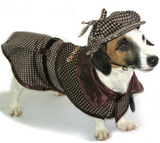Deluxe Sherlock Bones (Holmes) Tweed Costume Coat with Hat - Daisey's Doggie Chic