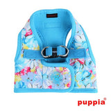 Spring Garden Floral Choke-Free, Step-in Harness Vest Jacket in Sky Blue Floral - Daisey's Doggie Chic