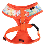 "Puppia ""Spring Garden Floral"" Choke-Free Halter Harness in Color Citrus Orange - Daisey's Doggie Chic - 2"