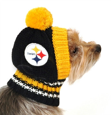 4fd9e325d5d ... Pittsburgh STEELERS NFL Official Licensed Ski Hat for Dogs in color  BlackYellow - Daiseys ...