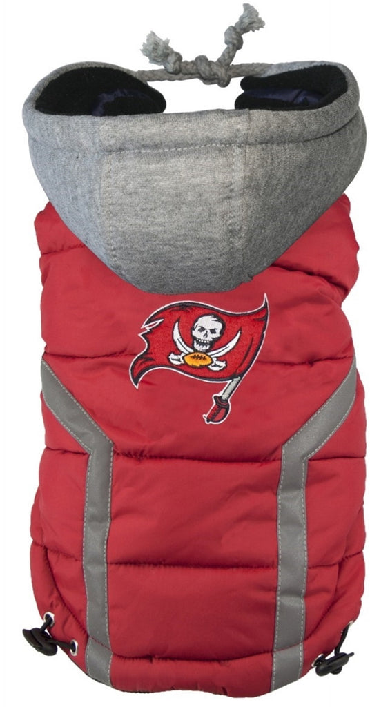 Tampa Bay BUCCANEERS NFL dog Jacket (Puffer Vest) in color Red - Daisey s  Doggie 3b4150bf4