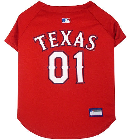 Texas RANGERS  MLB Jersey - Daisey's Doggie Chic