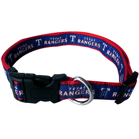 Texas RANGERS  MLB Nylon Collar - Daisey's Doggie Chic