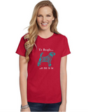 Beagle Themed Crewneck T-Shirt - To Beagle or Not To Be logo -  Adult (Unisex) Sizes S,M,L,XL,2XL in 19 colors - Daisey's Doggie Chic