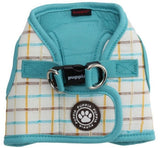 Puppia Tot Plaid Choke-Free, Step-in Harness Vest Jacket with Smart Tag- Choice of  Blue or Pink - Daisey's Doggie Chic