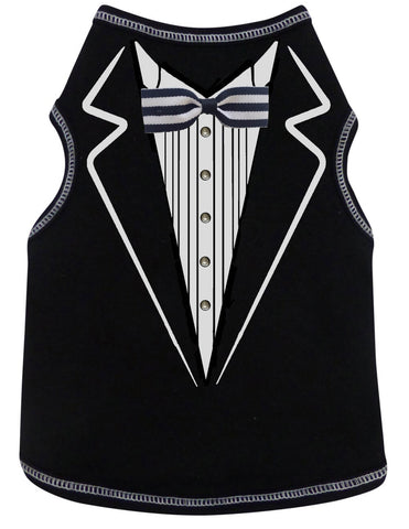 Formal Tuxedo T-Shirt in color Black - Daisey's Doggie Chic