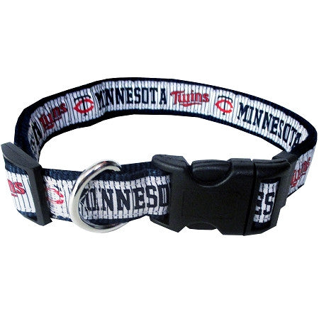 Minnesota TWINS  MLB Nylon Collar - Daisey's Doggie Chic