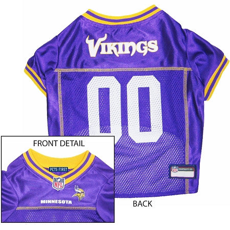 Minnesota VIKINGS  NFL dog Jersey in color Purple - Daisey's Doggie Chic - 1