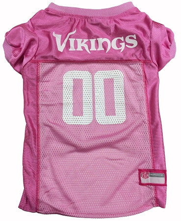 Minnesota VIKINGS  NFL dog Jersey in color Pink - Daisey's Doggie Chic