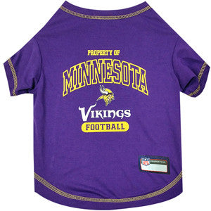 Minnesota VIKINGS  NFL dog T-Shirt in color Purple - Daisey's Doggie Chic