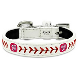 Washington NATIONALS  MLB Leather Collar - Daisey's Doggie Chic