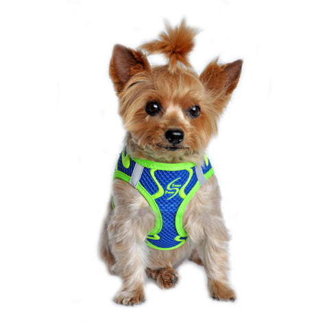 "American River ""Sport Neon"" Cobalt Blue Ultra Choke Free Step-in Harness Vest - Daisey's Doggie Chic"