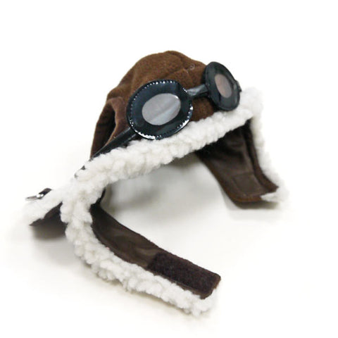 aviator hat with goggles and themed charm for dogs daisey s doggie