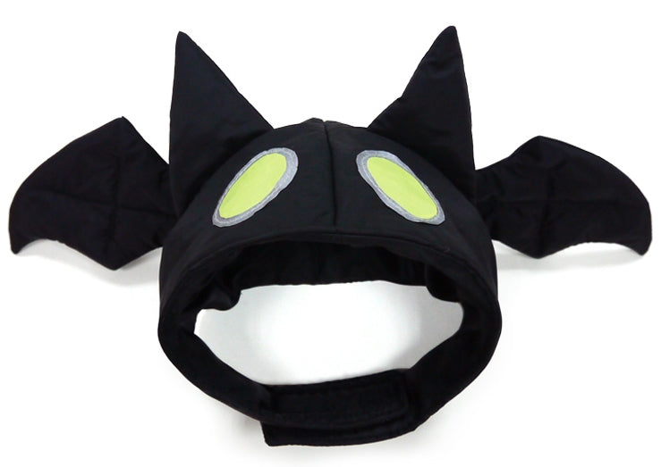 "Spooky Bat Hat  ""Glow in the Dark ""  Hat for Dogs in color Black - Daisey's Doggie Chic"