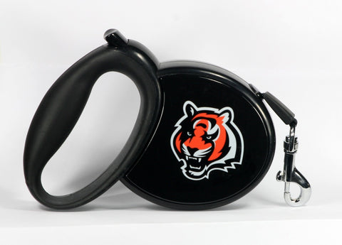 Bengals NFL Retractable Leash - Daisey's Doggie Chic