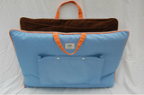 "Jennifer Brooks LLC ""Zip Tote"" Portable Dog Bed in Color Air Blue - Daisey's Doggie Chic - 2"