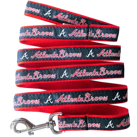 Atlanta BRAVES   MLB Nylon Leash - Daisey's Doggie Chic