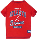Atlanta BRAVES MLB Tee Shirt - Daisey's Doggie Chic