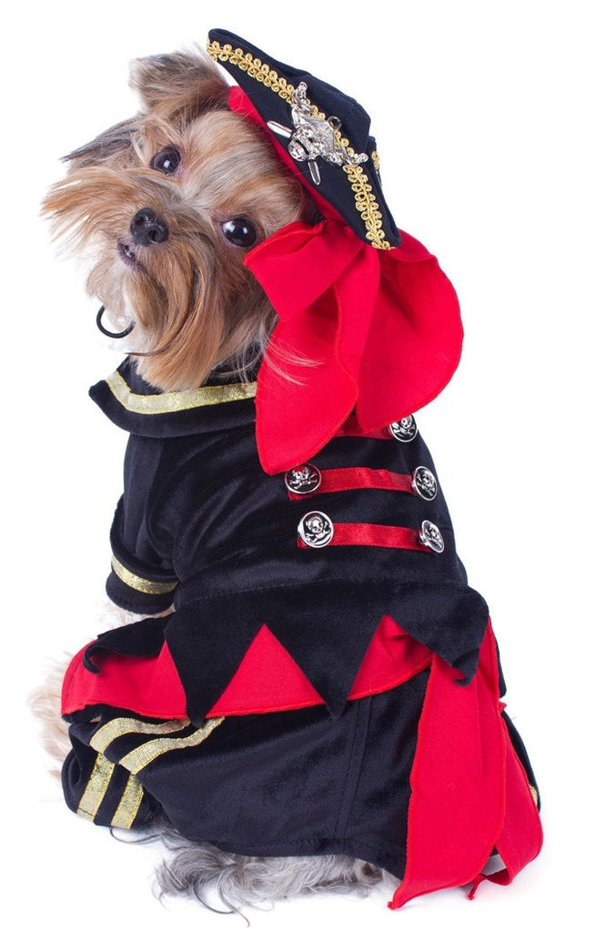 Deluxe Supreme Buccaneer Pirate Costume with Tricorner Hat for Dogs - Daisey's Doggie Chic