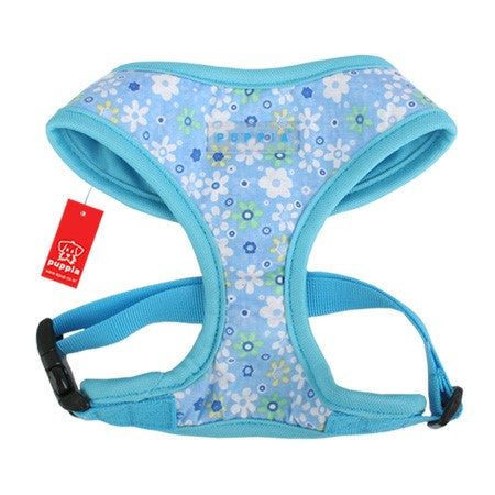 "Puppia ""Buttercup"" Choke-Free Halter Harness in Sky Blue - Daisey's Doggie Chic - 1"