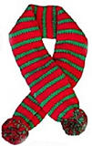 Candy Cane Striped Knit Scarf for Dogs Available in 4 Colors - Daisey's Doggie Chic - 5