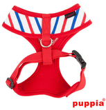 "Puppia ""Capitane"" Red Choke-Free Halter Harness with Smart Tag - Daisey's Doggie Chic"
