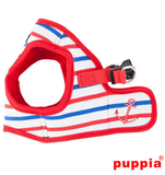 "Puppia ""Capitane Anchor"" Red Choke-Free, Step-in Harness Vest Jacket with Smart Tag - Daisey's Doggie Chic"