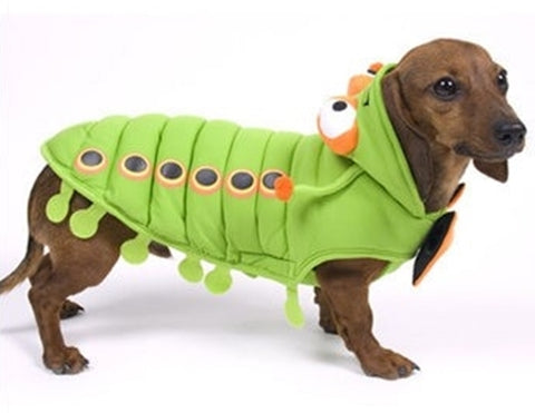 Speckled Green Caterpillar Costume Suit for Dogs - Daisey's Doggie Chic