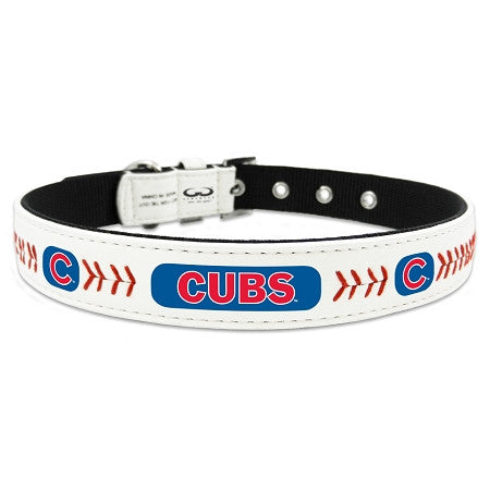 Chicago CUBS MLB Leather Collar - Daisey's Doggie Chic