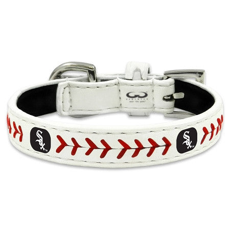 Chicago WHITE SOX  MLB Leather Collar - Daisey's Doggie Chic - 2