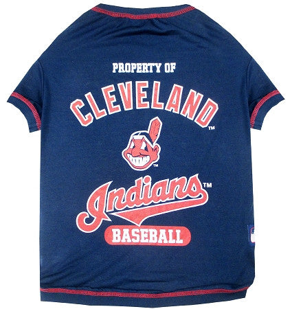 Cleveland INDIANS  MLB Tee Shirt - Daisey's Doggie Chic - 1