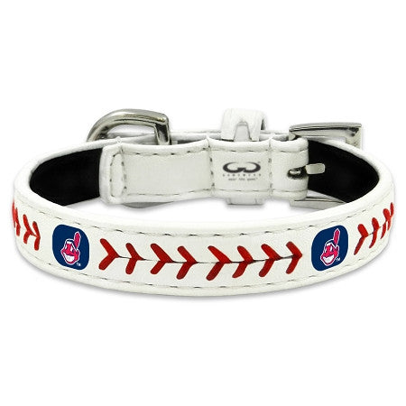 Cleveland INDIANS MLB Leather Collar - Daisey's Doggie Chic