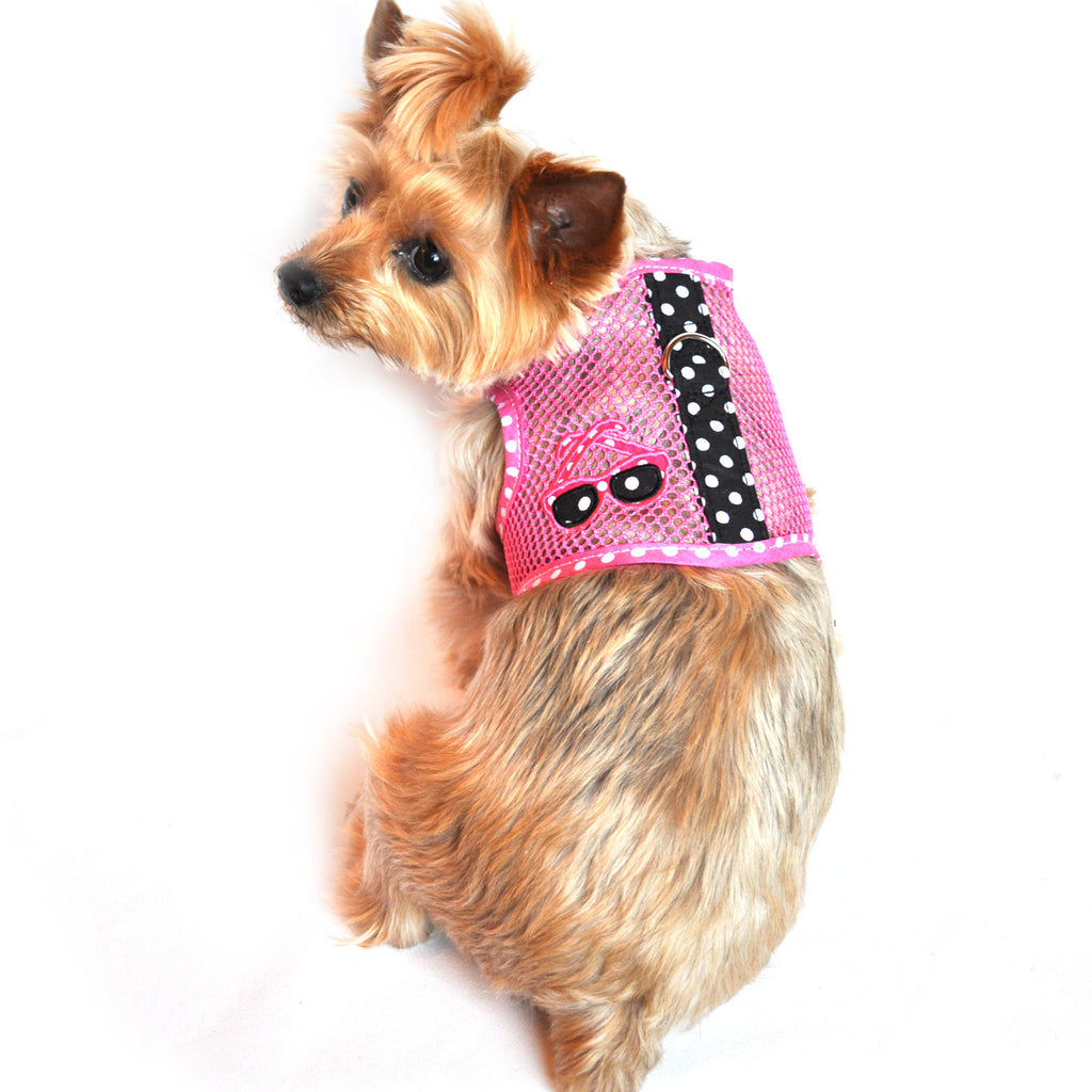 """Under The Sea"" Sunglasses Cool Mesh Harness Vest and matching Leash Set - Daisey's Doggie Chic"