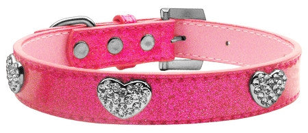 Crystal Hearts Ice Cream Collar in color Pink - Daisey's Doggie Chic