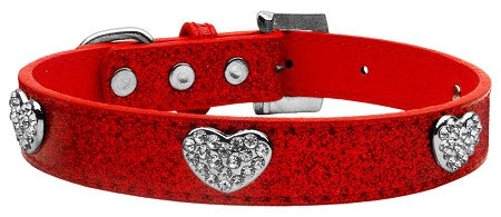 Crystal Hearts Ice Cream Collar in color Red - Daisey's Doggie Chic