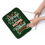 Laptop Sleeve Case - A House Isn't a Home Without Paw Prints Theme - Color Hunter Green 032608 - in 3 Sizes - Personalize Free - Daisey's Doggie Chic