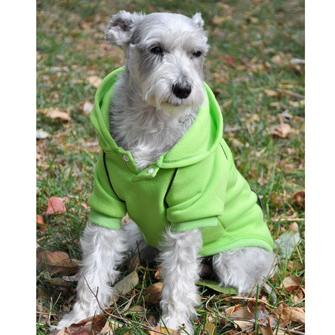 Fleece Lined Sport Sweatshirt Hoodie for Dogs in Color Lime Green - Daisey's Doggie Chic