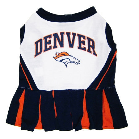 Denver BRONCOS  NFL dog Cheerleader Dress - Daisey's Doggie Chic