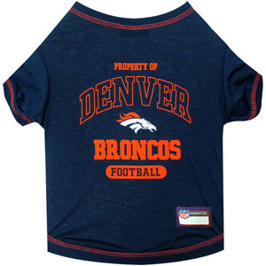 Denver BRONCOS NFL dog T-Shirt in color Blue - Daisey's Doggie Chic - 1
