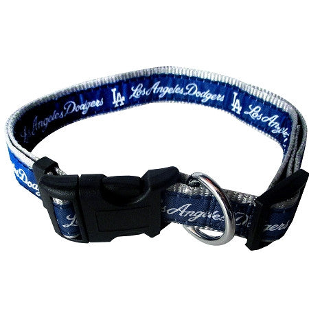 LA DODGERS  MLB Nylon Collar - Daisey's Doggie Chic